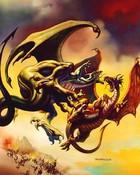 Fantasy art - Boris Vallejo - Dragons duel.jpg