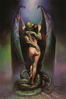 Free Gothic Angel 01 - Erotic Fantasy - Boris Vallejo - Mirage - Demon Lover, Vamp.jpg phone wallpaper by cacique