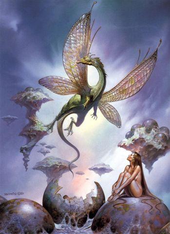Free Pics - Gothic - Boris Vallejo - Dragon Fairy 1981.jpeg phone wallpaper by cacique