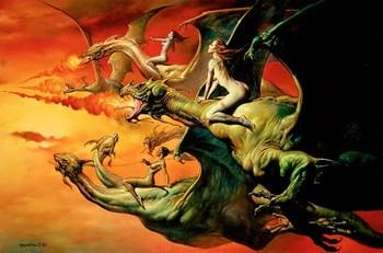 Free Boris Vallejo - 1981 - Flight of the Dragons.JPG phone wallpaper by cacique