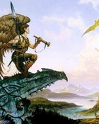 Boris Vallejo - Winged Elf Watches The Dragons (1).jpg