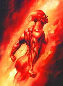 Free boris vallejo fantasy art marvel comics fantastic 4s torch.jpg phone wallpaper by cacique