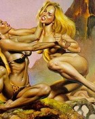 Boris Vallejo - Fantasy Art - Blonde vs Brunette II.jpg