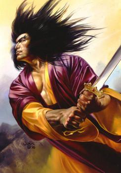 Free Julie Bell - Wolverine Samurai.jpg phone wallpaper by cacique