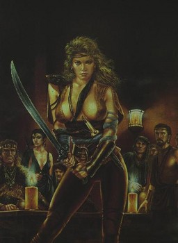 Free Fantasy Art - Luis Royo - Woman Erotic Sword Fight dds porn teen qwerty.jpg phone wallpaper by cacique