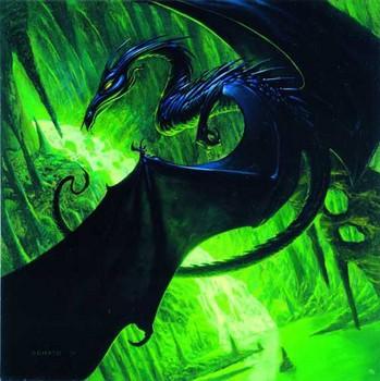 Free Fantasy art Magic the gathering - black dragon.jpg phone wallpaper by cacique