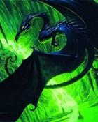 Fantasy art Magic the gathering - black dragon.jpg wallpaper 1