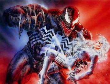 Free Boris Vallejo - Marvel Comics (& Luis Royo) - Silver Sable Vs Venom.jpg phone wallpaper by cacique