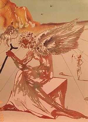 Free Salvador Dali Luis Royo - Profile of a angel.jpg phone wallpaper by cacique