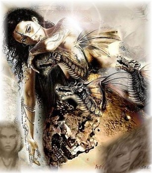 Free Luis Royo - Fantasy Art - Mother of Black Dragons.jpg phone wallpaper by cacique
