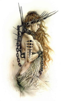 Free Boris Vallejo & Luis Royo - Chained Angel.jpg phone wallpaper by cacique