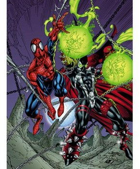 Free Comics - Marvel - Spawn And Spiderman.jpg phone wallpaper by cacique