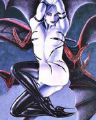 Gothic Wicked Fantasy Erotic Art PinUp - Girl with Bats.jpg