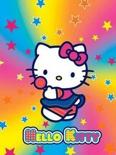 Free hello kitty star.jpg phone wallpaper by cally