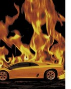 Cars - Yellow Lamborghini with Fire in Background.jpg