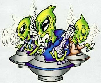 Free Graffiti - aliens cannabis humour.jpg phone wallpaper by cacique