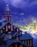 Free town square christmas.jpg phone wallpaper by cally