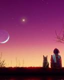 Free moon wacthing.jpg phone wallpaper by cally
