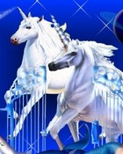 Unicorn Pics-3D unicorns at gates with mermaids- fantasy mythology 3D wallpaper.jpg wallpaper 1