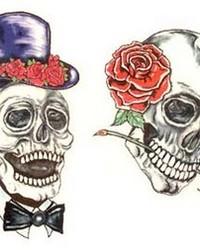 Images - Skulls - skulls_roses_tophat_tattoo.jpg