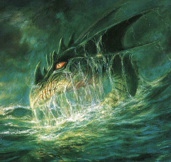 Free Boris Vallejo - A Dragon Coming Out Of The Ocean - DUNGEONS AND DRAGONS.jpg phone wallpaper by cacique