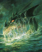 Boris Vallejo - A Dragon Coming Out Of The Ocean - DUNGEONS AND DRAGONS.jpg wallpaper 1