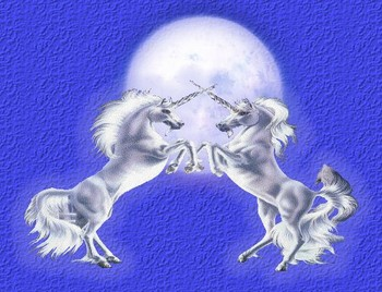 Free Unicorn Pics-Unicorns crossed horns- (44) fantasy mythology 3D wallpaper.jpg phone wallpaper by cacique