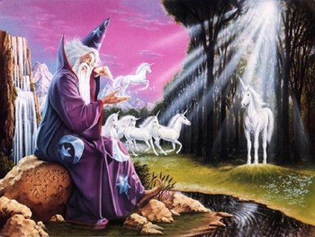 Free Unicorn Pics-Wizard making Unicorns- fantasy mythology 3D wallpaper.jpg phone wallpaper by cacique