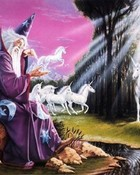 Unicorn Pics-Wizard making Unicorns- fantasy mythology 3D wallpaper.jpg