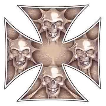 Free iron cross skulls decal.jpg phone wallpaper by cacique