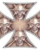 iron cross skulls decal.jpg wallpaper 1
