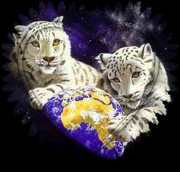 Free Fantasy Art - White Tigers World.jpg phone wallpaper by cacique