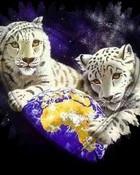 Fantasy Art - White Tigers World.jpg wallpaper 1