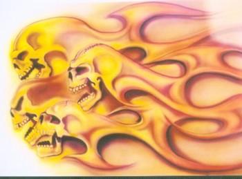 Free screaming skulls.jpg phone wallpaper by cacique